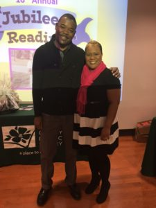 Dekalb Library's Myguail Chappel and Author Krystal Grant