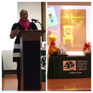 Krystal Grant speaks at Dekalb Library's Jubilee of Reading Book Club Conference